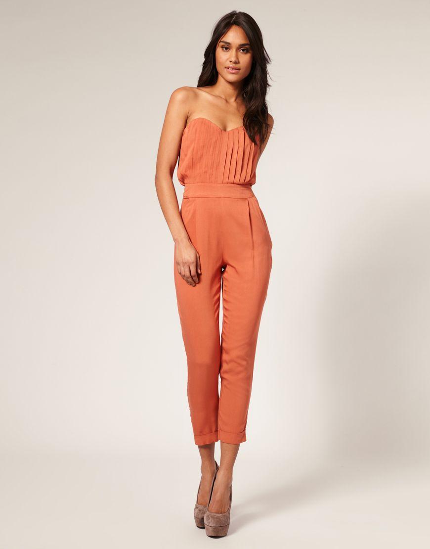 Collection Orange Jumpsuit Womens Pictures - Reikian