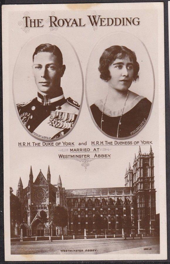 Royal Wedding Ephemera Prince Albert Later George Vi And Elisabeth Bowes Lyon George Vi Queen Mom British Royal Family