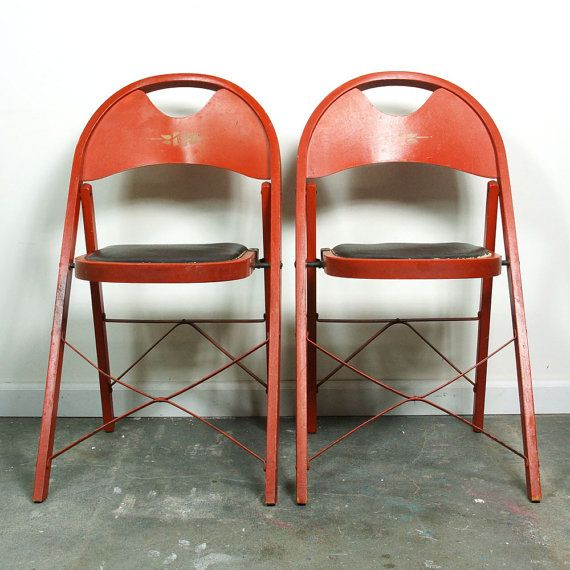 1930s Louis Rastetter Solid Kumfort Folding Chairs / Set ...