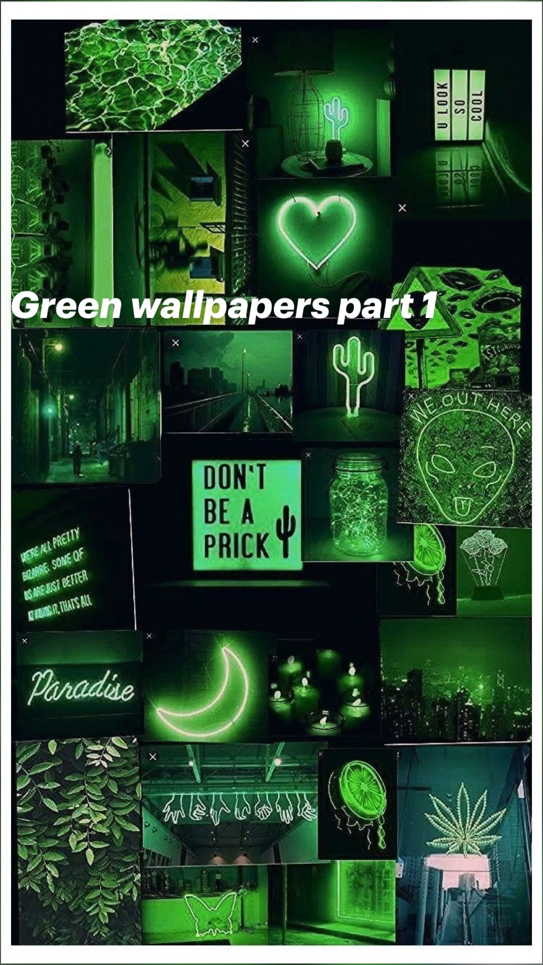 Green wallpapers part 1