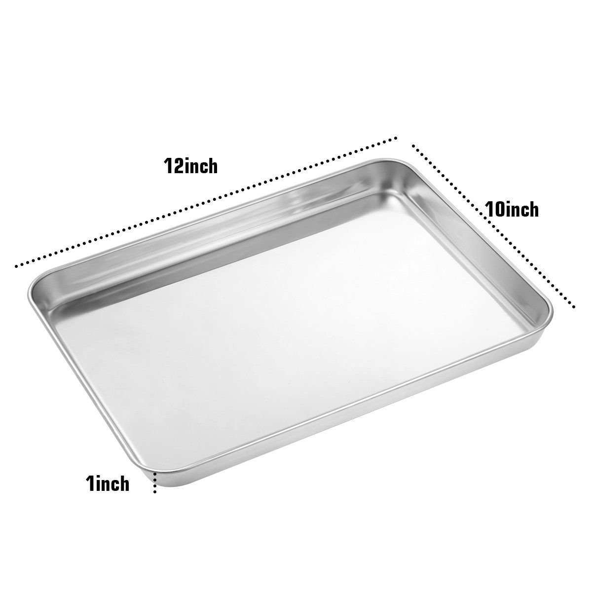 Baking Pans Set Of 2 Footek Baking Sheets Stainless Steel Cookie Sheets For Toaster Oven 12 25la 9 65wa 1h Inch Healt Baking Pans Set Baking Sheets Baking Pans