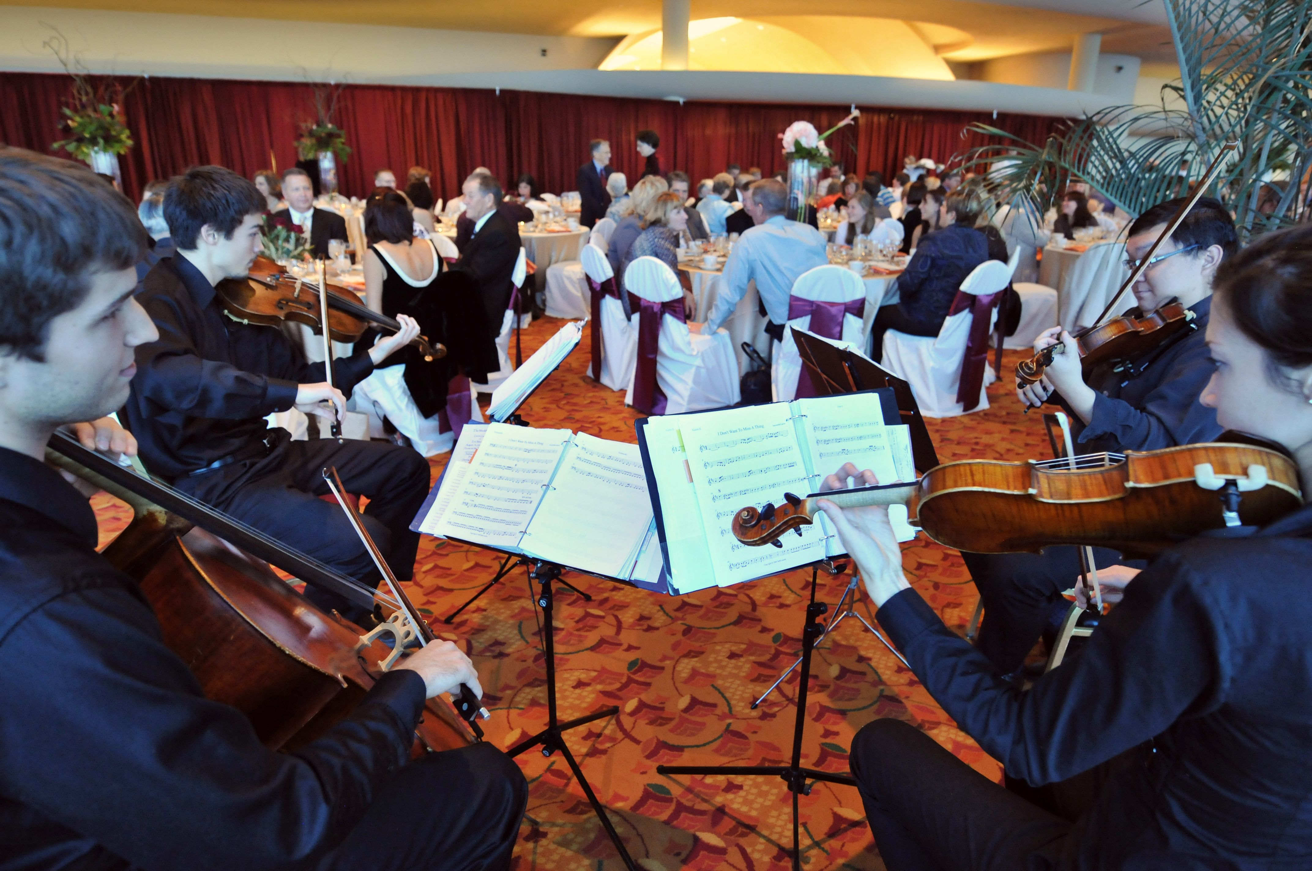 LFQ At The Monona Terrace Performing Wedding Reception Dinner Music
