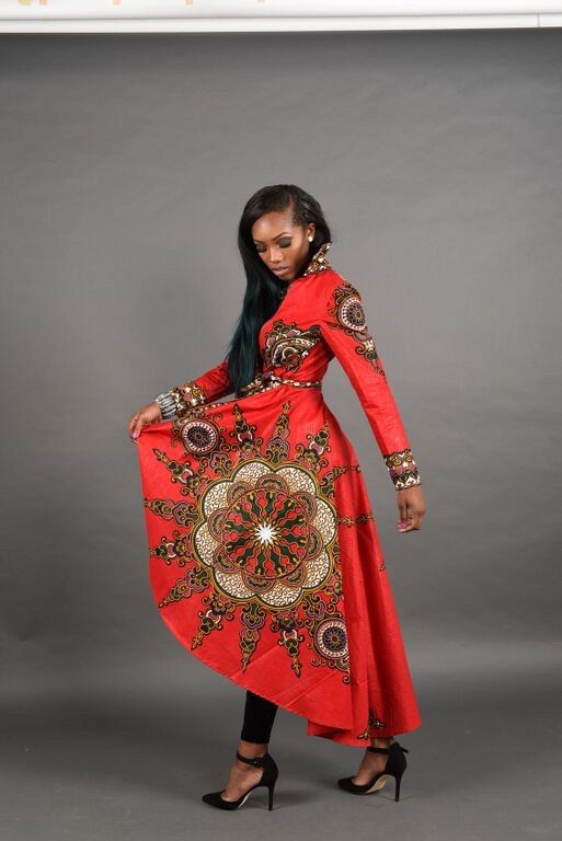Holiday Quick ship Sale Red African print dress Jacket by RAHYMA ...