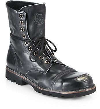 Diesel Hardkor Steel Lace-Up Boots aa216eb2b26