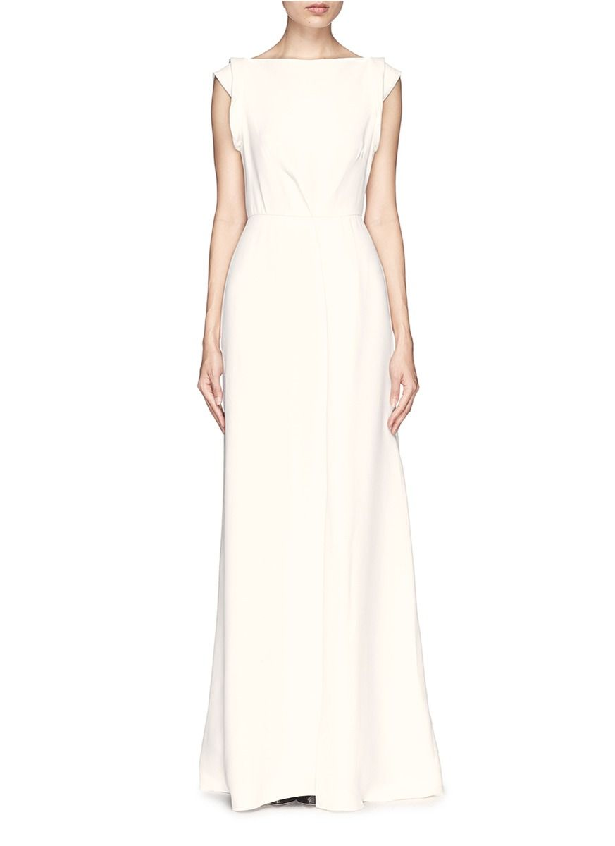 VICTORIA BECKHAM Drape open back crepe gown | Wedding - Bridal Gown ...