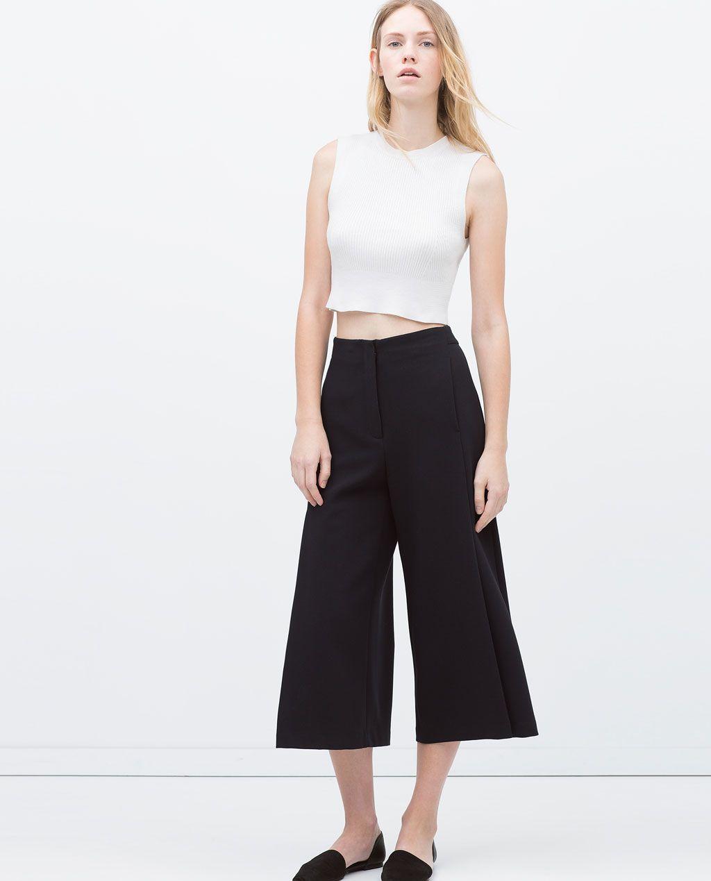 Bild 1 von Hosenrock mit Zierfalte vorne von Zara