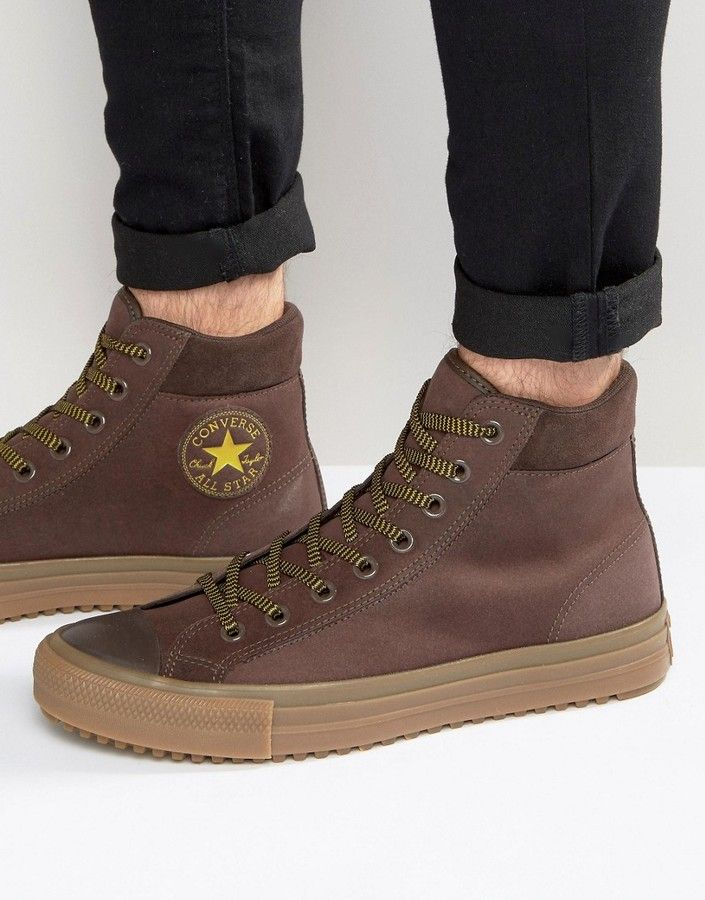ab01d7027aa7 Converse Chuck Taylor All Star Boot PC Sneakers In Brown 153674C-219 ...