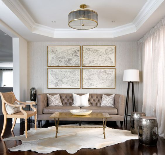 Dream house focal factors for trendy inside design and adorning created by grouping small wall decorations and artwork