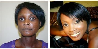 Pin On Afro Americain Makeup Makeovers Relooking Femmes Noires