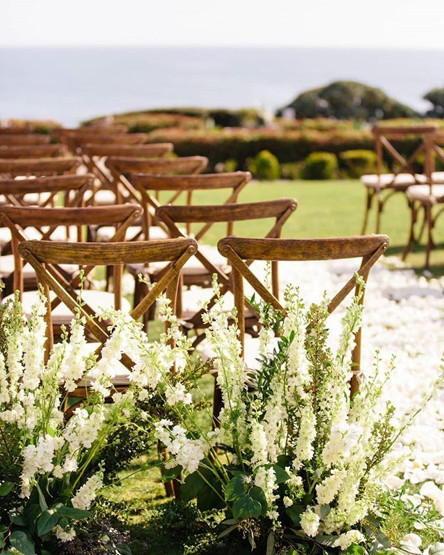 Delicate White Florals Classic Wooden Chairs And A