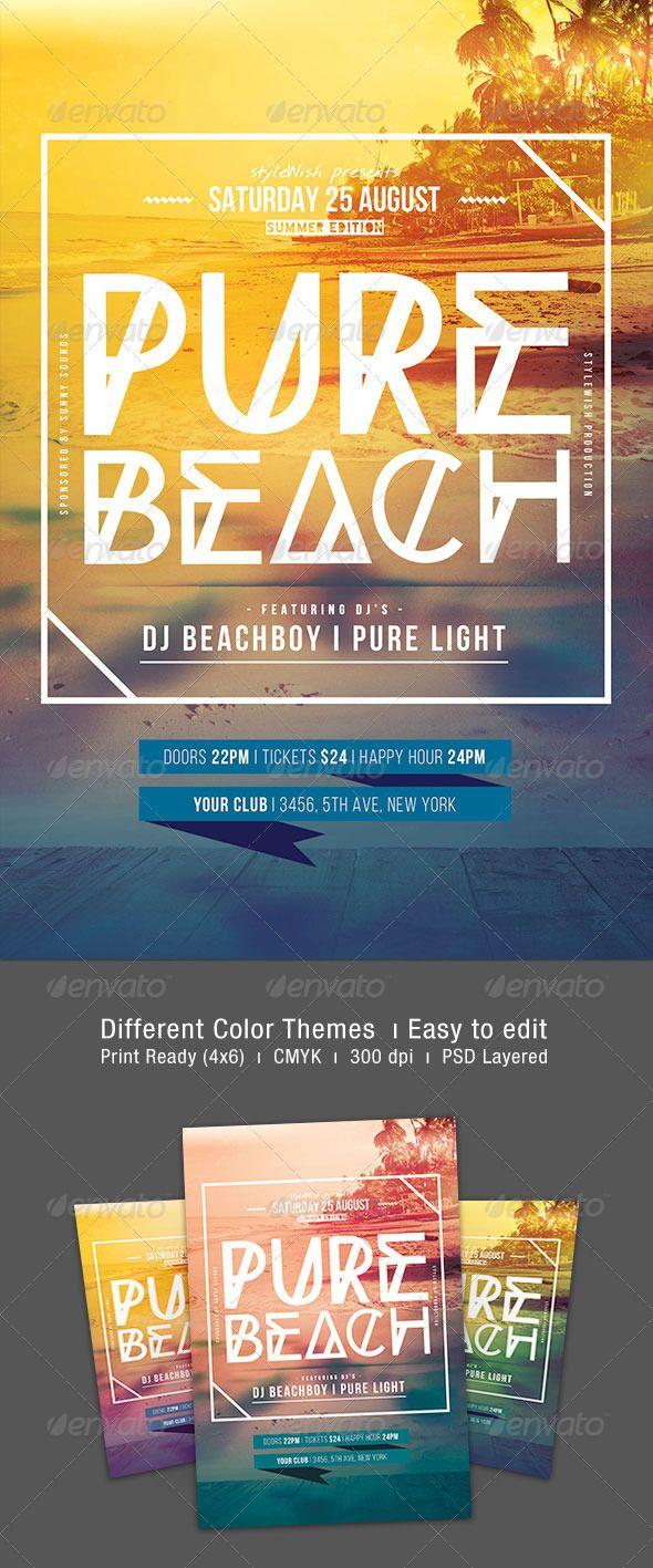 Pure Beach Flyer | Pinterest