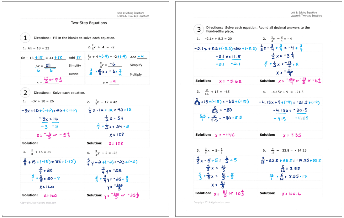Algebra Worksheets With Answers In 2021 Algebra Worksheets Algebra I Algebra 1
