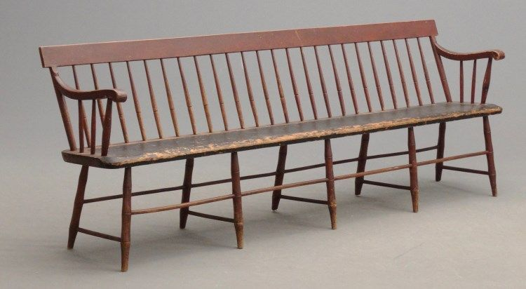 Lot 5 19th C Deacon S Bench Antique Pine Furniture Pine Furniture Cool Furniture