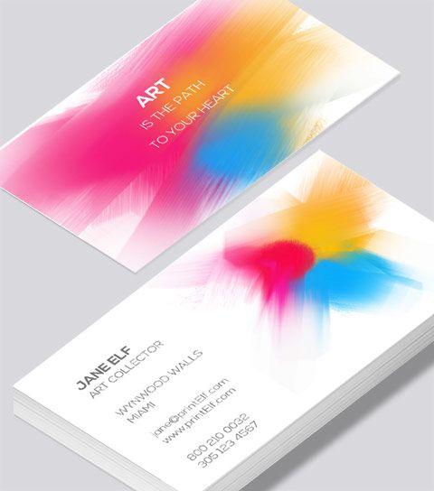 Modern contemporary business card design art collector business modern contemporary business card design art collector business card colourmoves Images