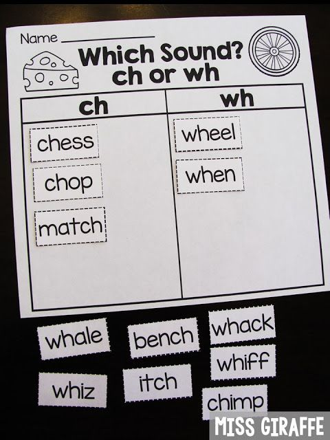 Digraph sort between CH and WH words and sooo many other digraphs ...