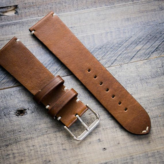 H'annson Strap Handcrafted leather watch strap 22mm