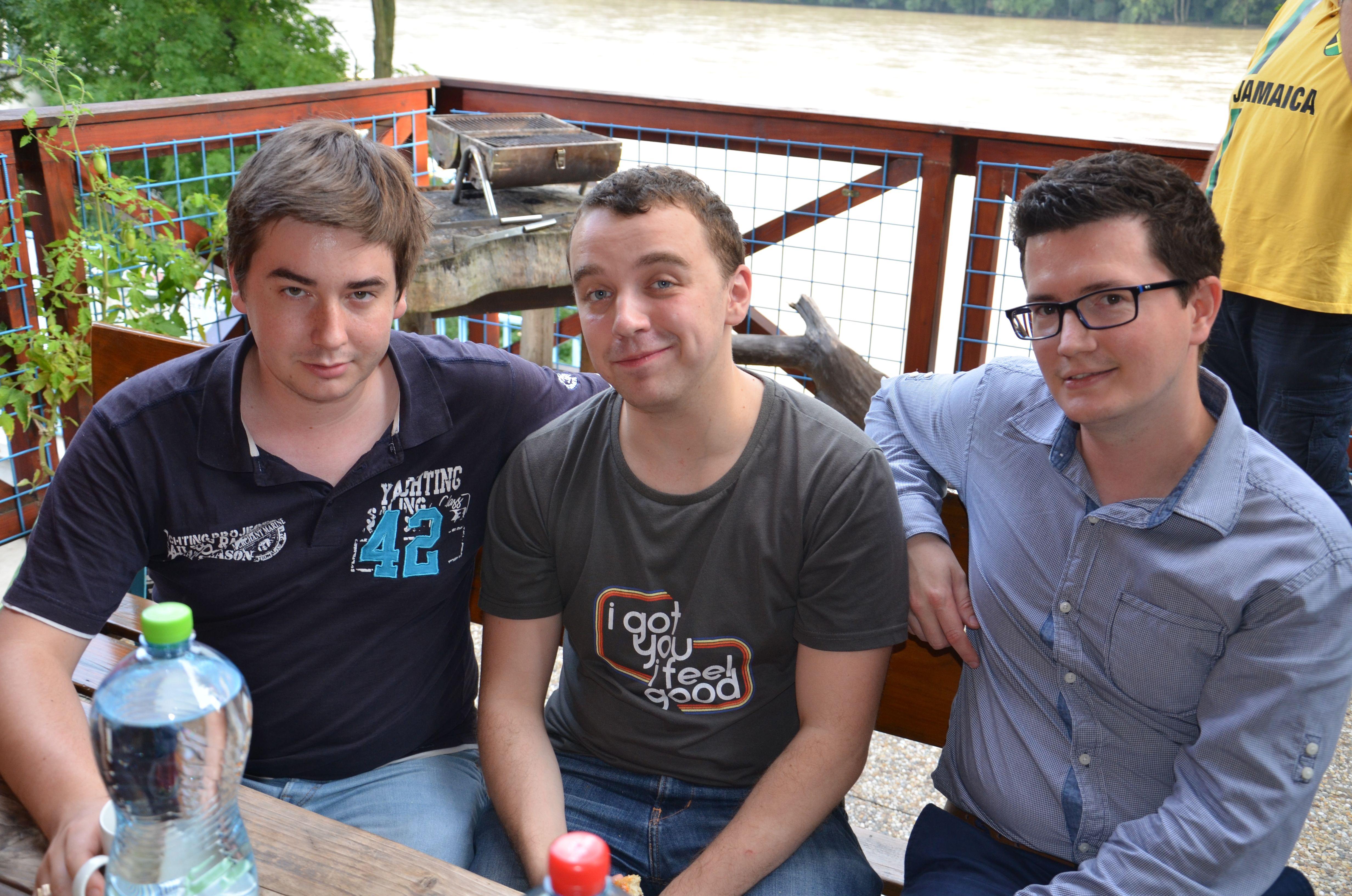 Three game designers (Gabko, Michal and Golo).