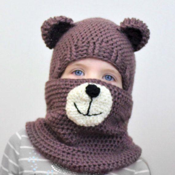 Crochet pattern Patron crochet PDF Blair BEAR Sethatcowl | Crochet ...