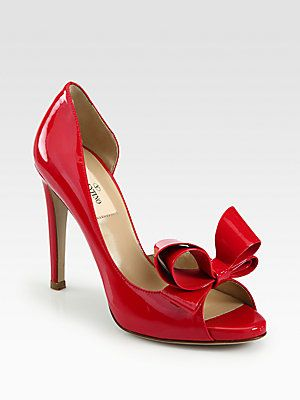 f3e08515aaa36 All about #shoes - #Valentino Couture Patent Leather Bow d'Orsay Pumps