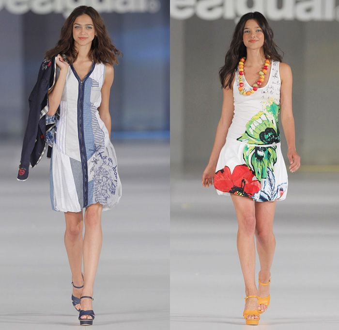 Desigual 2014 Spring Summer Womens Runway Collection - 080 Barcelona Fashion Week: Designer Denim Jeans Fashion: Season Collections, Runways, Lookbooks and Linesheets