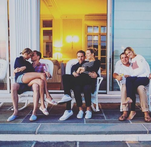 Taylor and Tom, Blake and Ryan, and Britany LaManna with her husband Ben || Fourth of July 2016