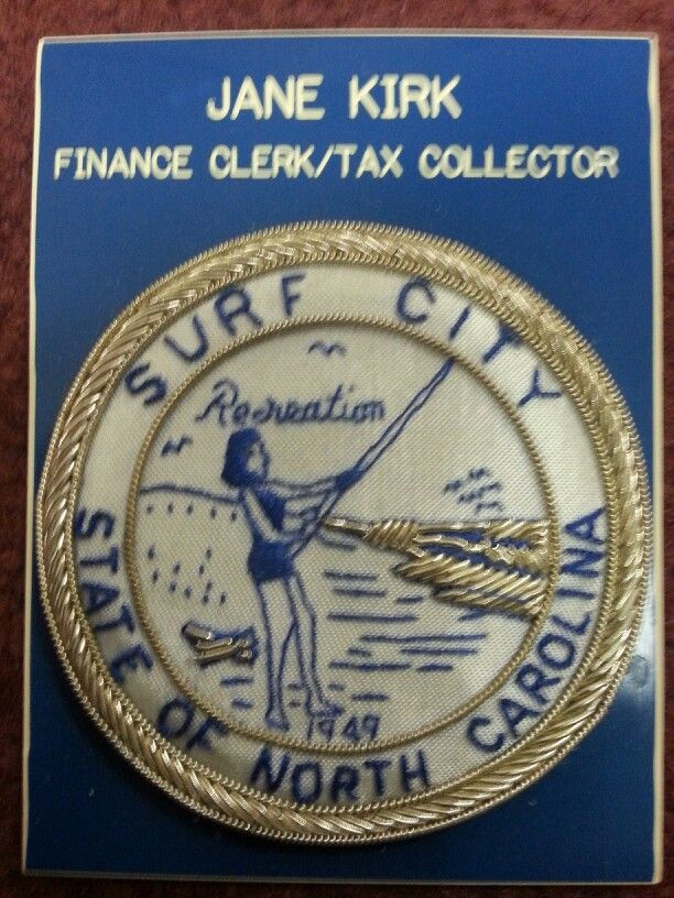 Old Surf City Nc Seal And Nametag Surf City Surfing Beautiful Islands