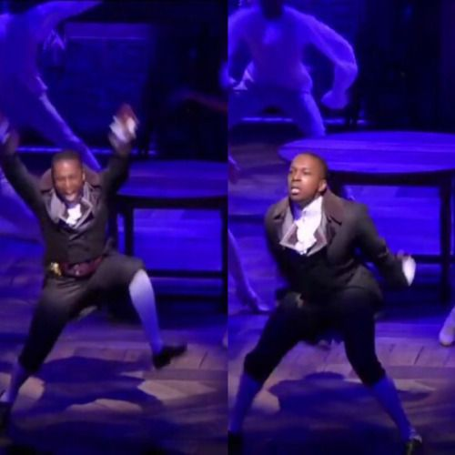 Here we have the species Aaron Burr, in his natural habitat of wild hand gestures and more...