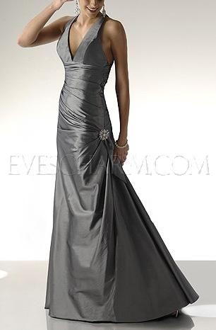 Thai Silk Lower V Wedding Prom Dress TS-8256