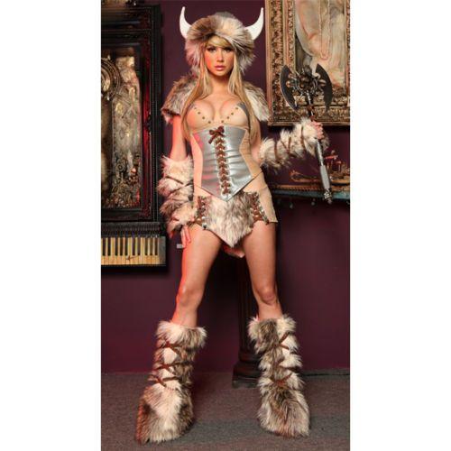 Womens Viking Costume Halloween Costume Sexy Costume New | eBay  sc 1 st  Pinterest & Womens Viking Costume Halloween Costume Sexy Costume New | eBay ...