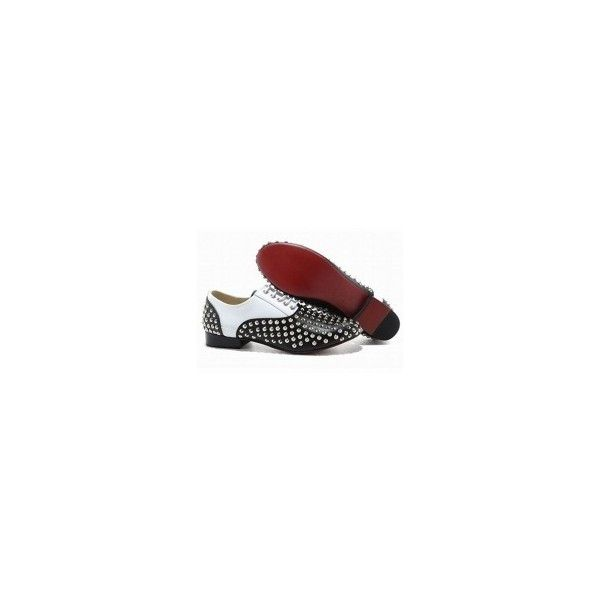 Christian Louboutin Fred Flat Spikes Mens Flat Shoes Black White on... ?  liked