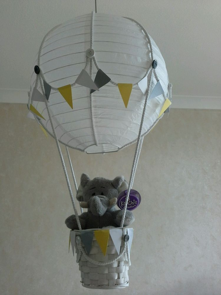 Cute little elephant in hot air balloon light lamp shade made to cute little elephant in hot air balloon light lamp shade made to order baby aloadofball Images