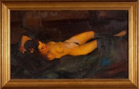 reclining Gil elvgren nude