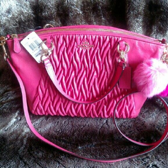 4f4735afb740 NWT Coach Gathered Twist Leather Kelsey Handbag   Merc  NWT Coach Gathered  Twist