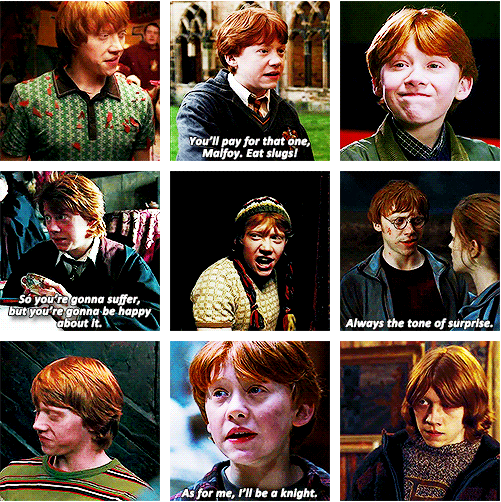 Ron Weasley I M The Sixth In Our Family To Go To Hogwarts You Could Say I Got A Lot To Live Up To Bill A Harry Potter Series Harry And Hermione