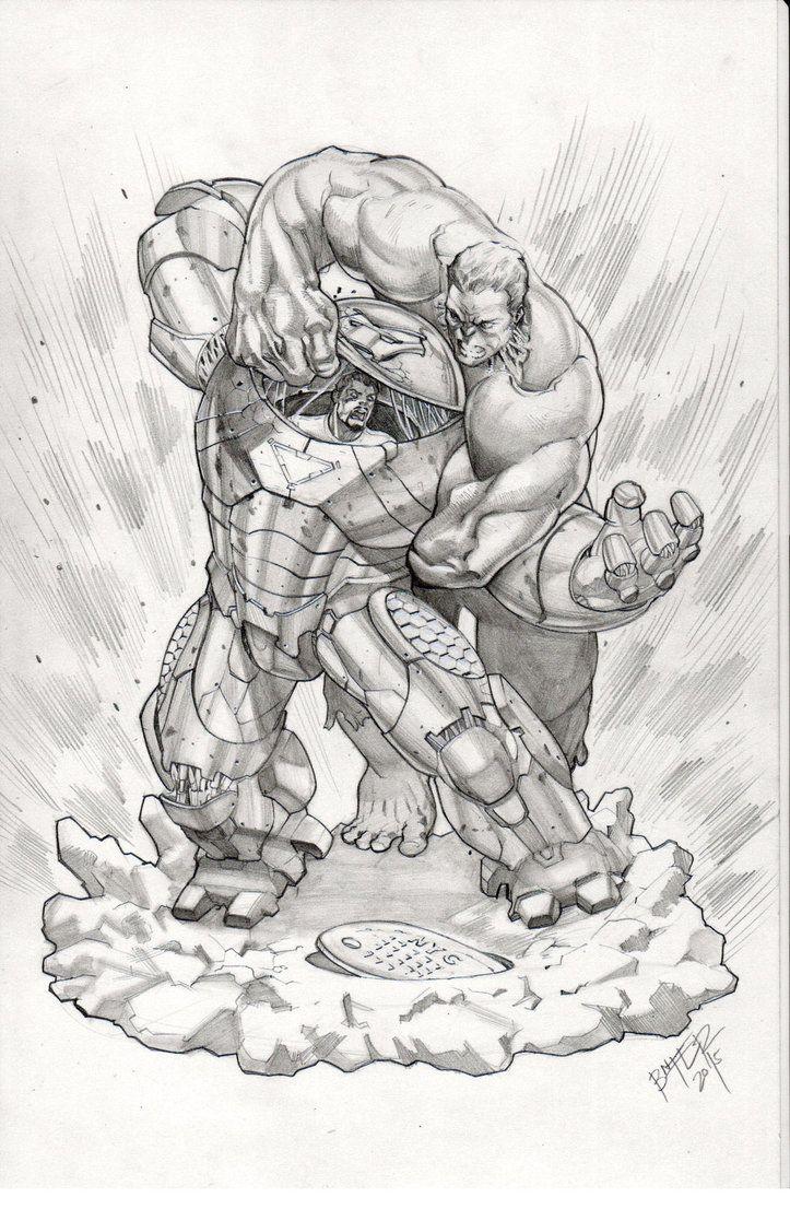 Hulk Fan Art Hulkbuster Vs Hulk By BienFlores WESOMENESS