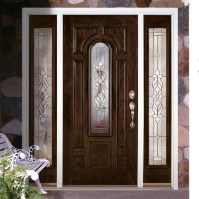 Feather River Doors Lakewood Zinc Center Arch Lite Stained
