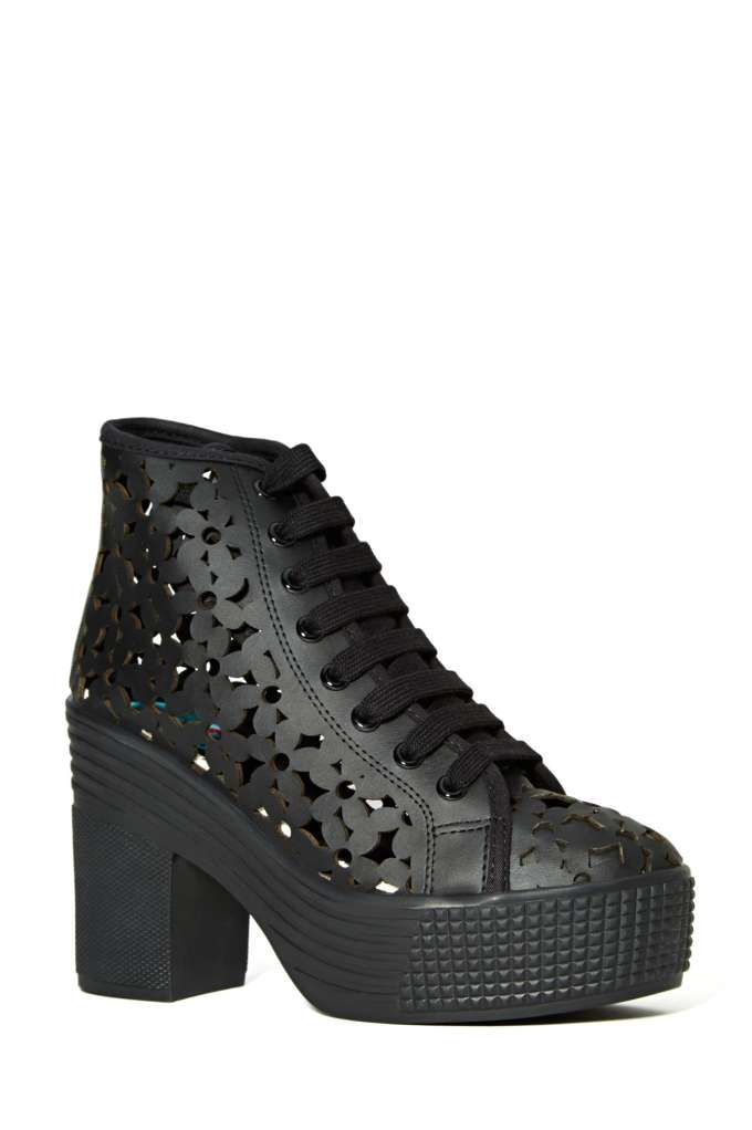 3e716ec30 JC Play by Jeffrey Campbell AsIf Platform Sneaker - Black Daisies - Shoes |  | Jeffrey Campbell