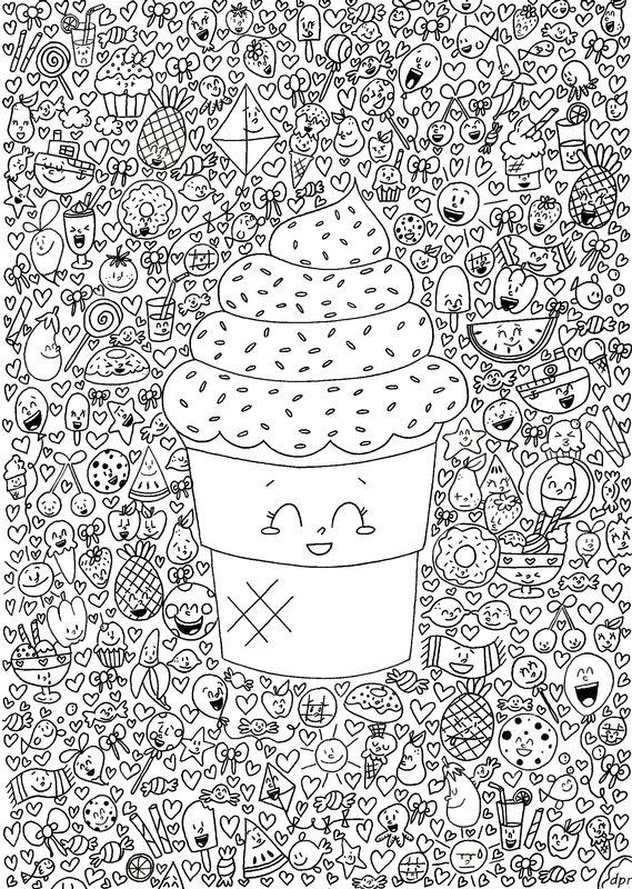Dessin Kawaii A Imprimer : dessin, kawaii, imprimer, Épinglé, Coloring