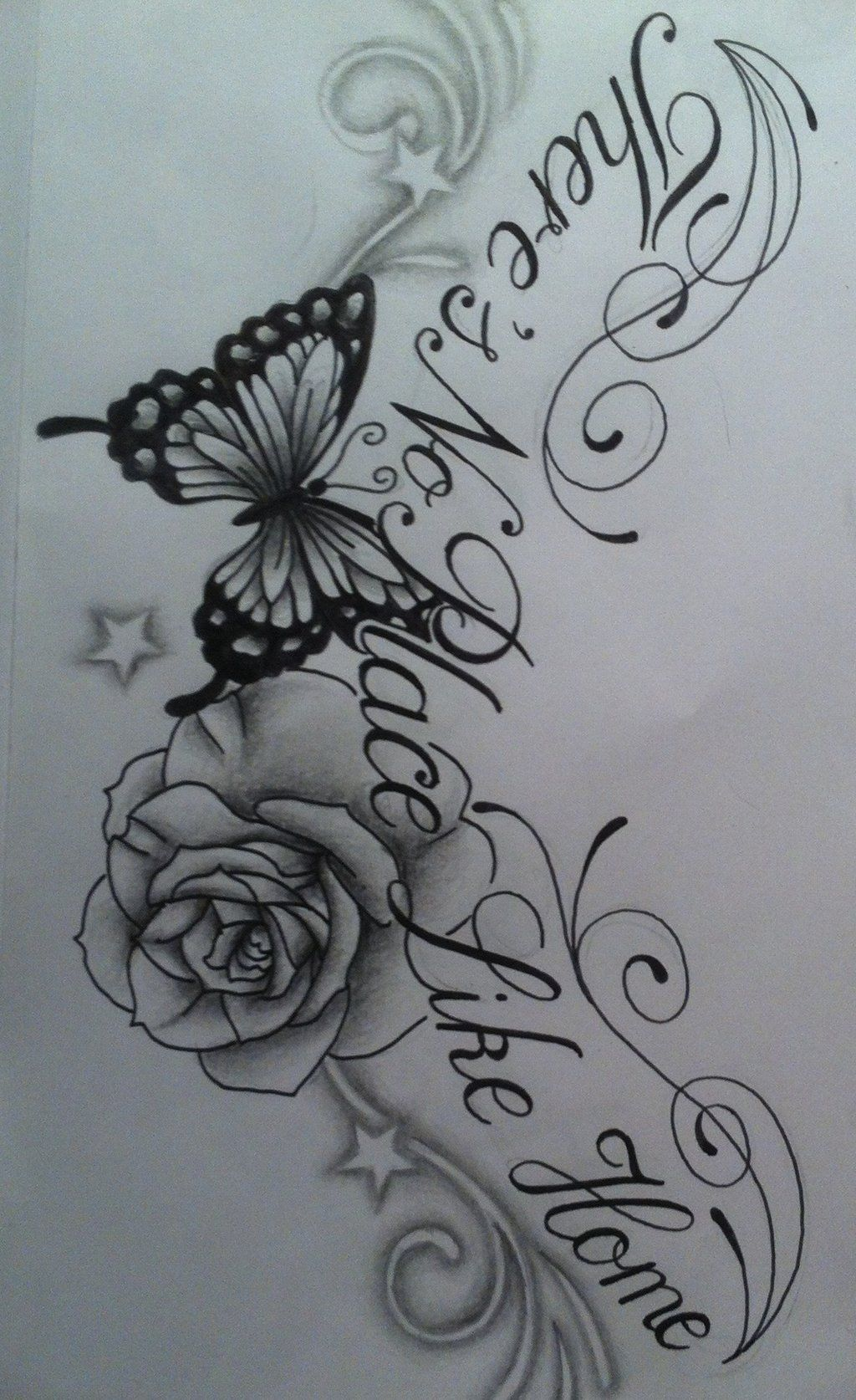 Butterfly star tattoo designs - Images Of Roses And Butterfly Tattoos Butterfly Rose Chest Tattoo Design With Text By