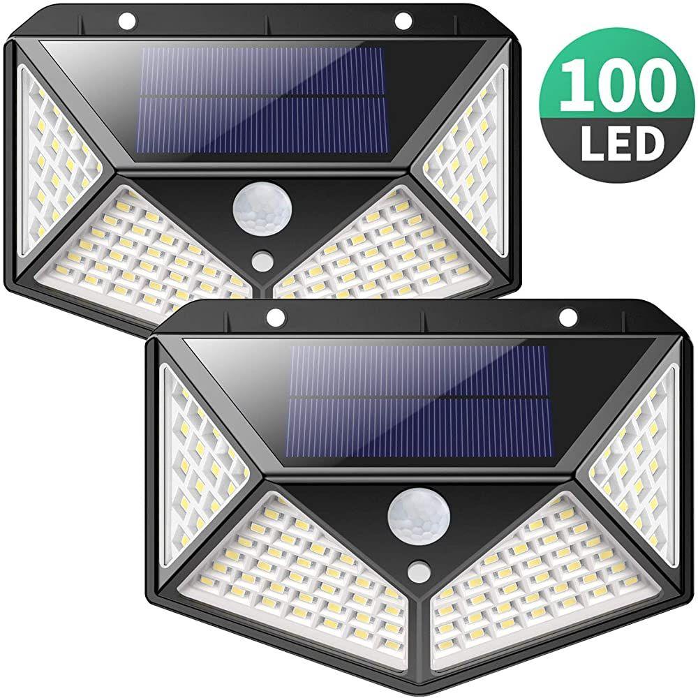 Solarlampen Fur Aussen 270 Vierseitige Beleuchtung 2200mahiposible 100 Led Solarleuchte Mit Bewegungsmelder Solar Wasser In 2020 Solarleuchten Solarlampen Solar Licht