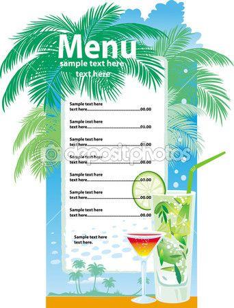 Juice Bar Menu Template Template designs of cocktail | Juice | Pinterest