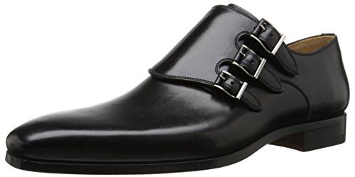 Magnanni Men's Ontur Oxford, Black, 7 M US Magnanni