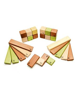 Bought for Hank!  Captivate a little one's creativity with this seemingly simple set of blocks. Each responsibly forested wooden block has a little magnet safely embedded, making each one curiously attracted to another. Learn more