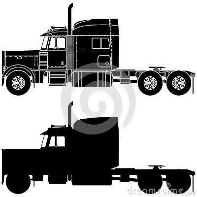 Silhouette Of A Truck Peterbilt 379 Peterbilt Peterbilt 379