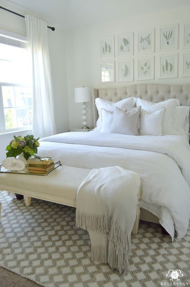 Create An Inviting Guest Retreat All White Bedroom All White Bedroom White Guest Bedroom Remodel Bedroom