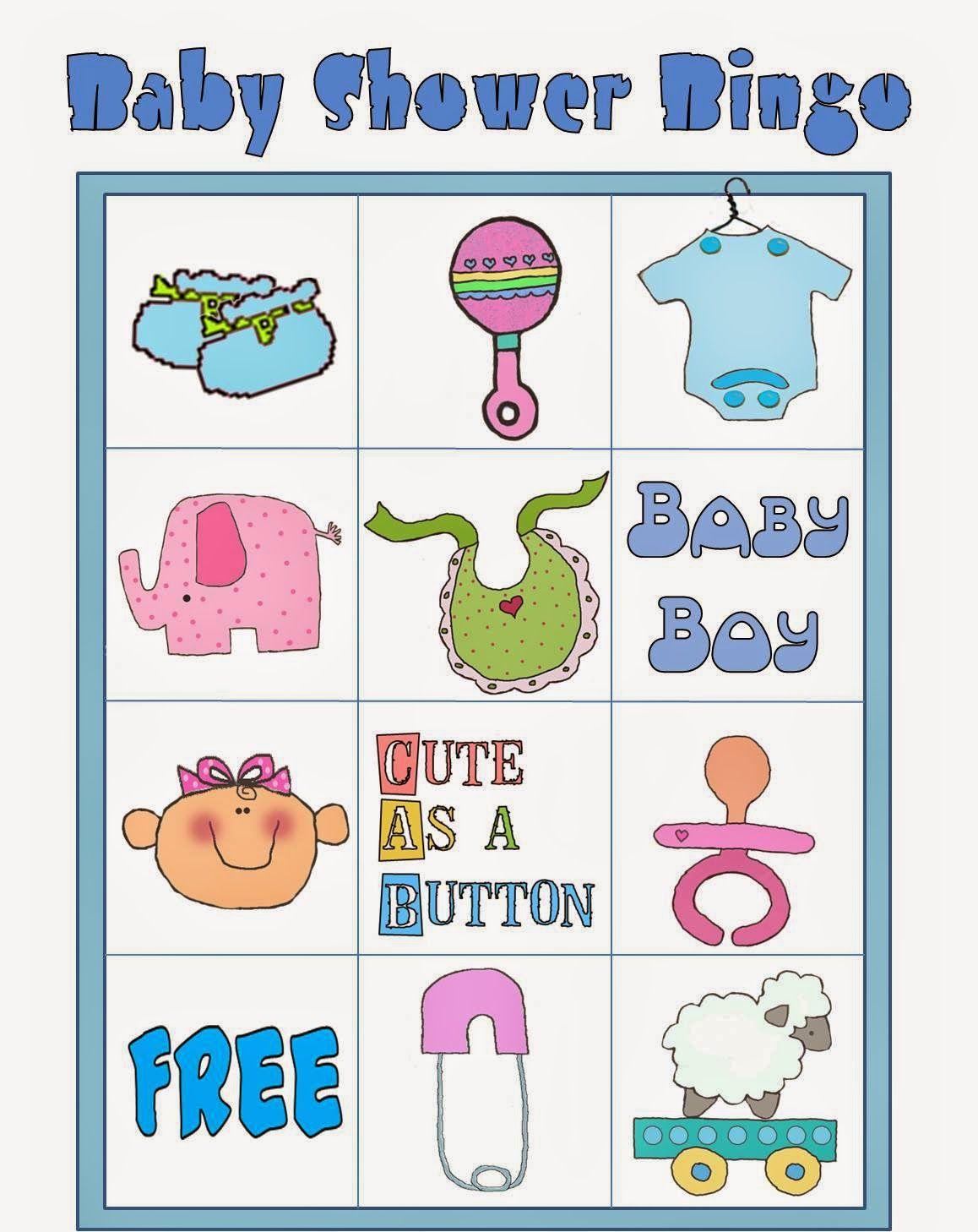 Amado Bingo para Baby Shower para Imprimir Gratis. | babyshower  OF43