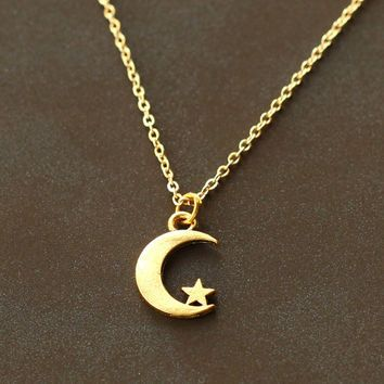 Shop gold moon and star pendant on wanelo necklaces pendants 2 shop the latest gold moon and star pendant products from tmache online suxalys salars jewelry and more on wanelo the worlds biggest shopping mall mozeypictures Image collections