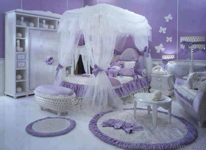 Little Girl S Purple Bedroom Girl Bedroom Designs Girl Room