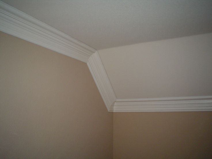 Crown Moulding On Moldings Vaulted Ceilings And Sloped Ceiling