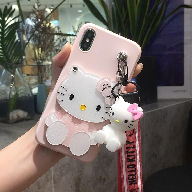 3D Hello Kitty Soft Cases For Samsung Galaxy S8 S9 plus C9 C7 C5 ...